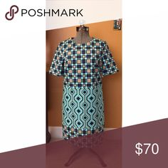 NWT Michael Kors Geometric Print Shift Dress Sz 6 NWT. Geometric print Shift Dress. Back zip closure and pockets. Sz 6 MICHAEL Michael Kors Dresses