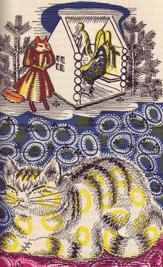 Illustrations by A. Alexeieff for Russian Fairy Tales, 1945