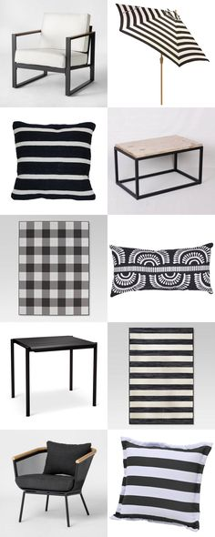 Fabulous Black + White Outdoor Finds at Target