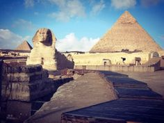 Tours to Pyramids Of Egypt; When the sun rises in Giza plateau, Egypt.  #Egypt #Cairo #Giza #Package #Holidays