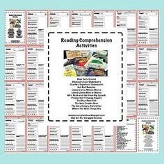 Reading comprehension activities for 25 books - Re-pinned by #PediaStaff. Visit http://ht.ly/63sNt for all our pediatric therapy pins