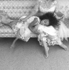 Amazing image of Claire Pettibone and her daughter by Elizabeth Messina behind the scenes of last nights festivities #ClairePettibone20th