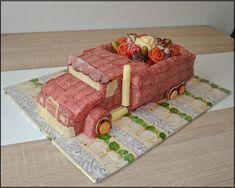 slaný náklaďák Food Decoration, Snacks, Food Humor, Charcuterie, Food Design, Bento, Food Art, Kids Meals, Hot Dogs