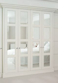 White Mirrored Closet Doors