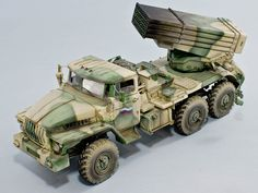 BM-21 Rocket Launcher Ural 4320 (This is the ICM kit in 1/35th scale.)