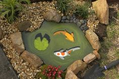 Painted faux pond