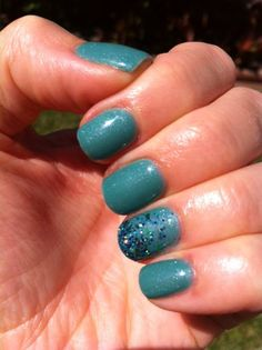 """#99 """"Tealing the Show"""" - a gorgeous shimmery teal green #gelnailpolish by Couture Gel Nail Polish."""