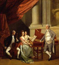 ♥ The Morse and Cator Family, c.1784, Johann Zoffany