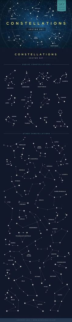 This vector graphic toolkit is a must for any designer – constellation tattoo Space Dust, Greek Names, Constellation Tattoos, Capricorn Constellation, Vector Graphics, Night Skies, Original Image, Background Images, Designer