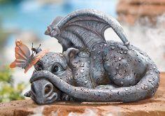 Dragon Garden Statues | Shy Baby Dragon Garden Statue  I so want this