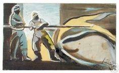 Ignacio Burgos - Balleneros - Original Signed Painting