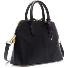 c218001f02 Zara Saffiano Leather Mini-City Bag (1.620 CZK) found on Polyvore