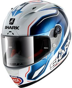 Shark Race R Pro Guintoli Shark Motorcycle Helmets, Shark Helmets, Motorcycle Outfit, Bike Helmets, Cool Motorcycles, Riding Gear, Motorbikes, Racing, Bikers