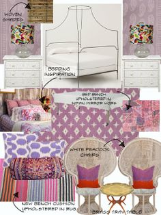 Teen girl's room via Amber Interior Design