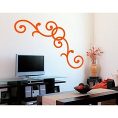 Style and Apply Curl Corner Wall Decal (20in x 7in )