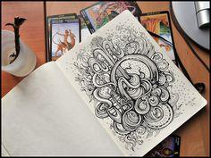 Ink drawings...