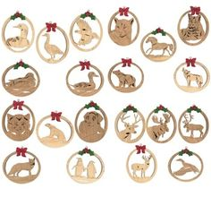 48-BWLORNSET1P - Wildlife Ornaments Set of 25 Scrollsaw Patterns