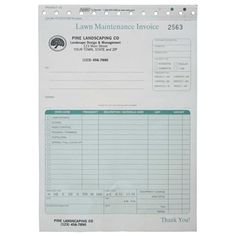 Free Printable Lawn Service Contract Form GENERIC Sample - Lawn service invoice template free