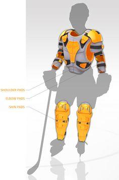 GRO Hockey Protector Gear Concept by Matt Hughson