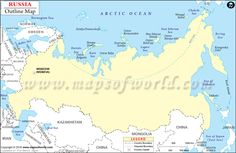 This is a map of RussiaYou can see that the Borders next to Russia
