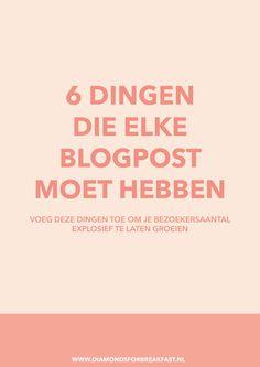 Wil je dat meer bezoekers op je blog zodat meer mensen je artikelen lezen? Zorg er dan voor dat elke artikel de volgende 6 dingen bevat →