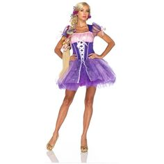 Disney Princess Rapunzel Women Fairy Tale Costume ($60) ? liked on Polyvore featuring costumes  sc 1 st  Pinterest & Fairytale Princess Cinderella Adult Costume | Womenu0027s Costumes ...