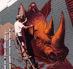 KIPTOE1 Working on a new mural for the @ktownwallz_project
