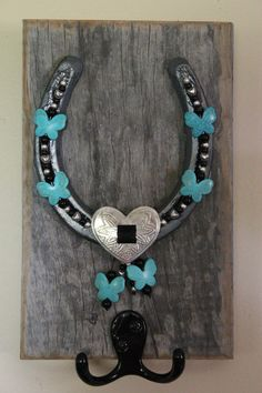 Reclaimed 100 Yr Old Barn wood Horse Shoe by UniqueCreativeness1