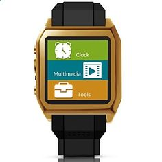 Scinex SW30 16GB Bluetooth Smart Watch GSM Phone US Warranty GoldBlack -- You can find out more details at the link of the image.