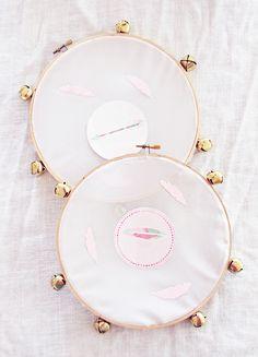 DIY Tambourines Boho Inspired