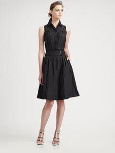Armani Collezioni - Sleeveless Trench Dress - Saks.com