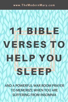 Bible Verses to Help You Sleep
