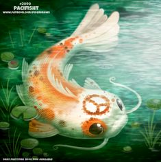 Daily Paint Pacifisht by Cryptid-Creations on DeviantArt Cute Animal Drawings, Cute Drawings, Animal Puns, Reptiles, Hippie Art, Painted Books, Kawaii Art, Cute Creatures, Cute Illustration