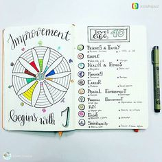 What a beautiful Level 10 Life spread from @brown_voodoo. Do you have one and do you find it effective? #bulletjournalcollection