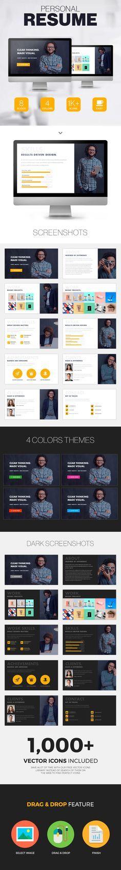 DigiTech Multipurpose Google Slide Template - resume presentation