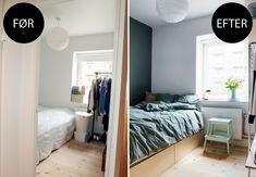 Signes soveværelse er kun seks kvadratmeter. Hun ønsker sig mere plads til tøj og sko - uden at det ser rodet og kaotisk ud. Stylist Julie Løwenstein har tryllet med pladsen. Kig med og snup hendes bedste tips.