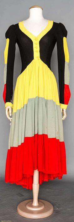 Augusta Auctions - ossie clark dress & sant angelo pants & top, 1970s