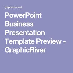 PowerPoint Business Presentation Template Preview - GraphicRiver