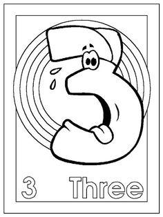 Activipeques: Inglés: los números: Three
