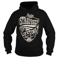 Cool Team STRAUSSER Lifetime Member (Dragon) - Last Name, Surname T-Shirt T-Shirts