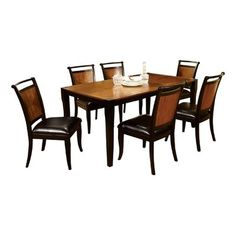Darby Home Co Exquisite 7 Piece Dining Set Solid Wood Table Tops, Solid Wood Dining Set, 3 Piece Dining Set, Dining Room Sets, Counter Height Dining Sets, Dining Table In Kitchen, Breakfast Nook Dining Set, Extendable Dining Table, Dining Furniture