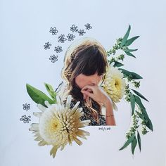 flower collage by kate rabbit - No. 04/100