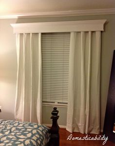 Curtains - I like the crown molding on top.