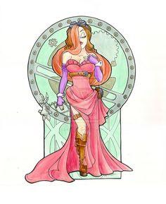 Steampunk Jessica Rabbit Acrl