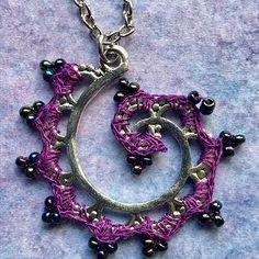 Swirls! #mixedmediajewelry  #crochetjewelry
