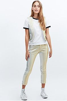 Levi's Vintage Clothing Lurex Sparkly Trousers in Gold