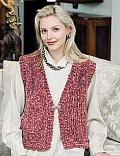 Ravelry: Divine Weekend Vest (crochet) pattern by Lion Brand Yarn