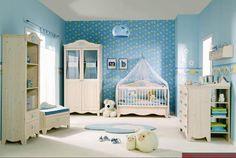 erkek bebek odasi dekorasyon ornegi.