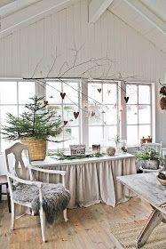 Det JULES i hver en krok her hos oss nå . Og orangeriet er ferdigpyntet med et stort juletre(nesten heeelt til taket ..:) Er så god stemn...