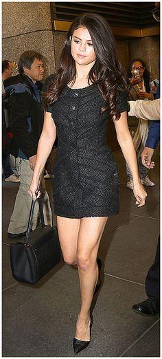 Selena Gomez Leggy in Mini Dress – Leaving NBC Studios in New York City, October 2015